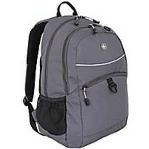Student Backpack For 15-inch Laptop PC - Polyester - Grey