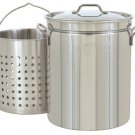 Quart All Purpose Stainless Steel Stockpot with Steam & Boil Basket