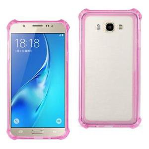 Reiko Samsung Galaxy J7 Transparent Tpu Case Clear Hot Pink With Cushion Shock A