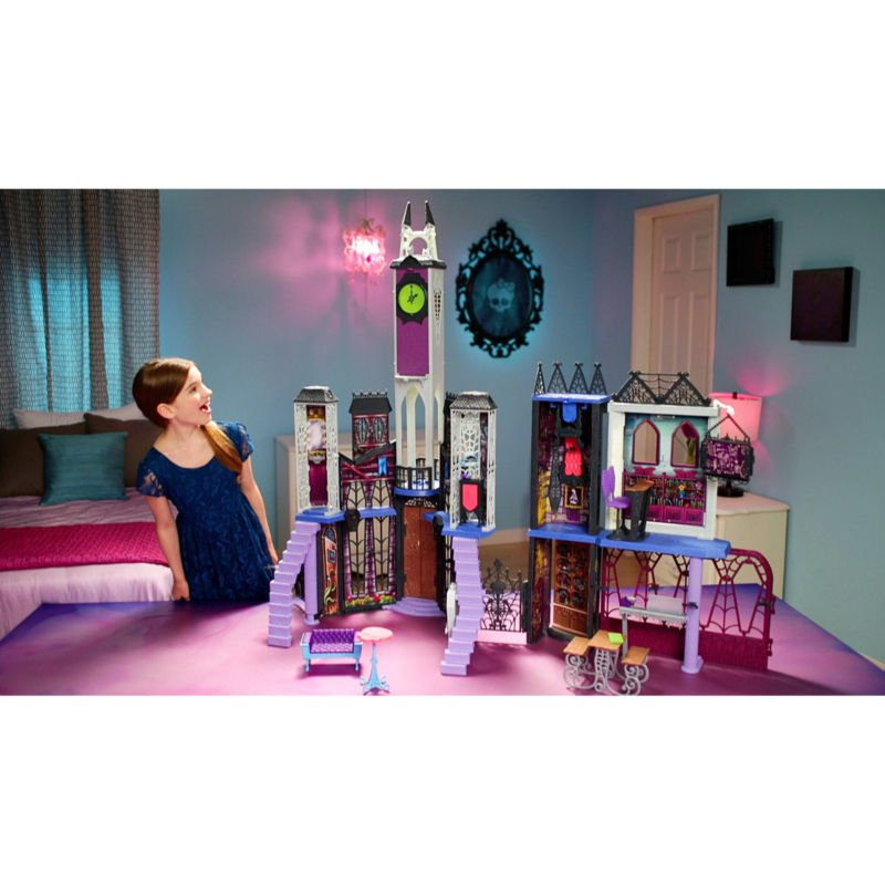 Extra Large Monster High Deadluxe Dollhouses Play Sets High School Toy Staircase