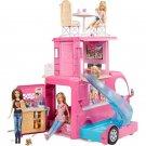 Barbie Playset  RV Vehicle Pop-Up Camper 2 Seats Upfront w/ Seatbelts 3 Story