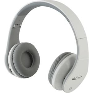 Bluetooth Stereo Headphones w/Microphone - White