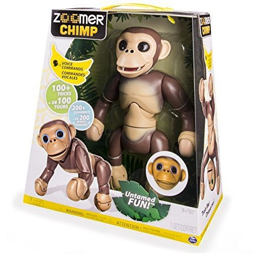 Zoomer - Chimp Voice Commands 200 Sounds 100 Tricks Interactive Chimp Robotic