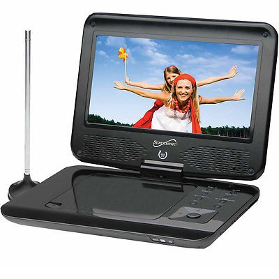 Portable DVD/CD/MP3 Player with TV Tuner  USB Amp SD Card Slot Travel Car New