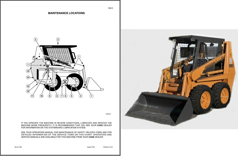 Case 1840 Skid Steer Loader Service Repair Workshop Manual CD