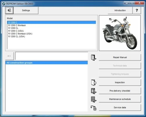 1997-05 BMW R1200C / Montauk RepROM Service Manual on a CD - Multilingual