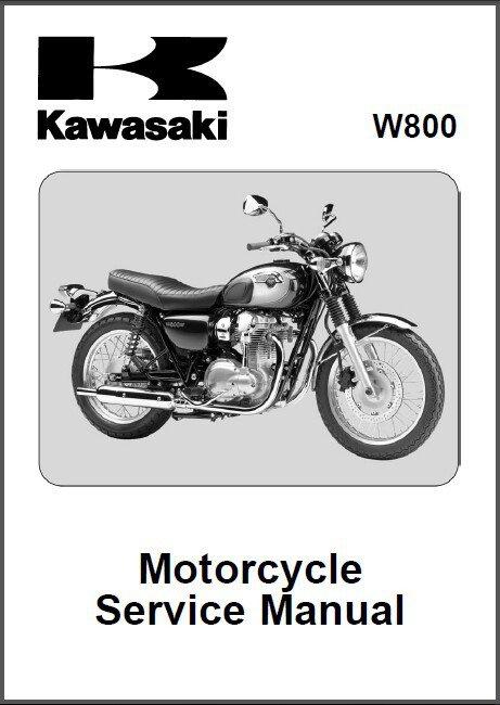 2011-2016 Kawasaki W800 Service Repair Workshop Manual CD .... W 800