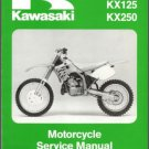 92-93 Kawasaki KX125 KX250 Service Repair Workshop Manual CD ..- KX 250 125