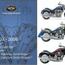 2003-2004-2005-2006 Victory Vegas 8Ball / Kingpin Service Manual on a CD