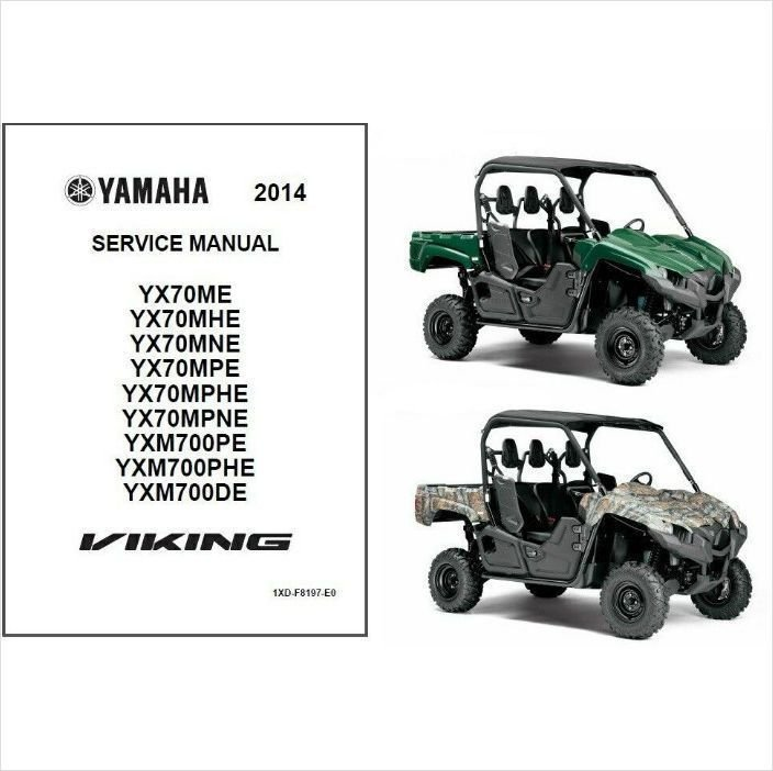 2014 Yamaha Viking FI 4x4 EPS UTV / ATV Service Repair Manual CD