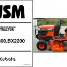 Kubota BX1800 BX2200 Compact Tractor / Mower Service Repair Workshop Manual CD