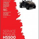 Hisun HS500 HS700 UTV Service / Maintenance Manual CD - HS500UTV HS700UTV 500 700