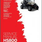 Hisun HS800 UTV Service / Maintenance Manual CD - HS800UTV 800