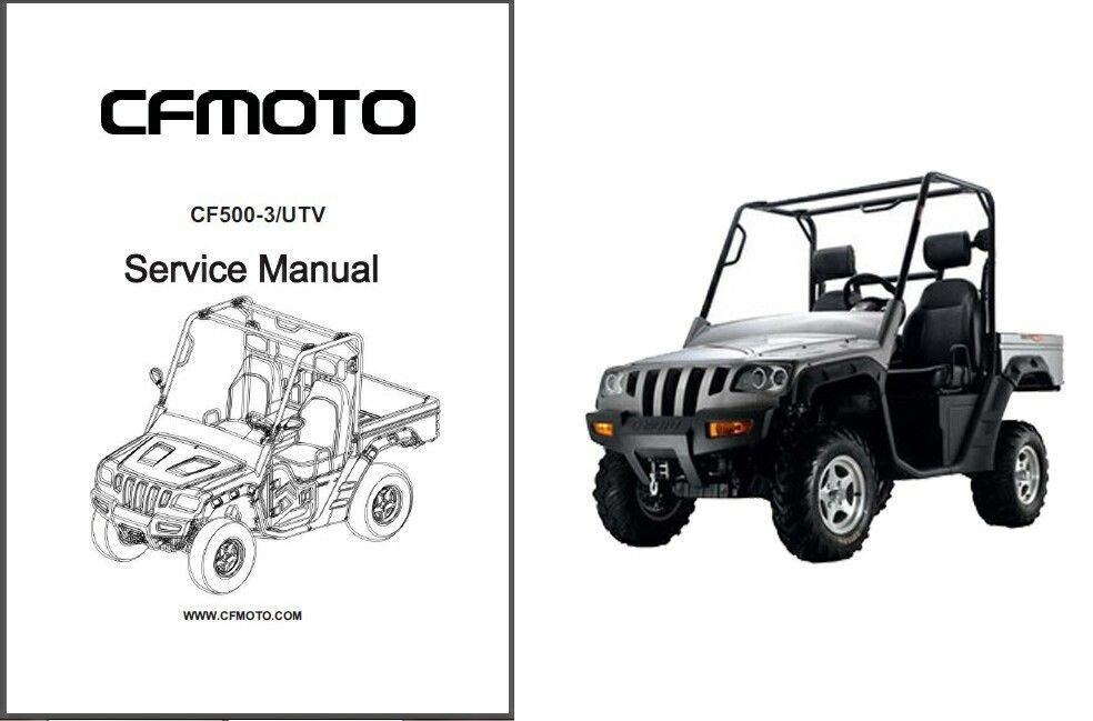 CFMoto CF500-3 Rancher UTV Service Repair Manual CD -- CF Moto CF 500 3