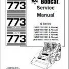Bobcat 773 Turbo / High Flow Skid Steer Loader Service Repair Manual CD