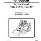 Bobcat S220 Skid Steer Loader Service Repair Manual CD -- S 220