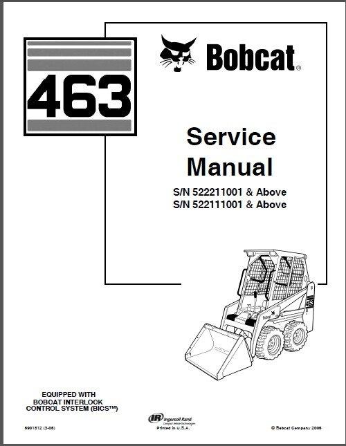 Bobcat 463 Skid Steer Loader Service Repair Manual CD