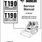 Bobcat T190 Turbo / High Flow Skid Steer Loader Service Repair Manual CD - T 190