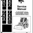 Bobcat 741, 742, 743 and 743DS Skid Steer Loader Service Repair Manual CD