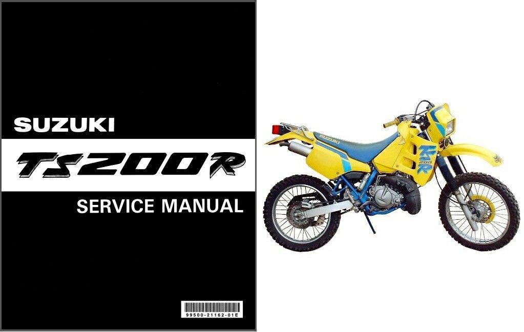 1991 1992 1993 Suzuki TS200R Service Repair Manual on a CD  -  TS 200R TS 200