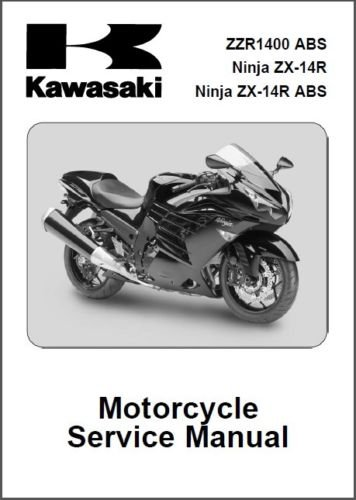 2012-2013 Kawasaki Ninja ZX-14R / ZZR1400 ABS Service Manual on a CD