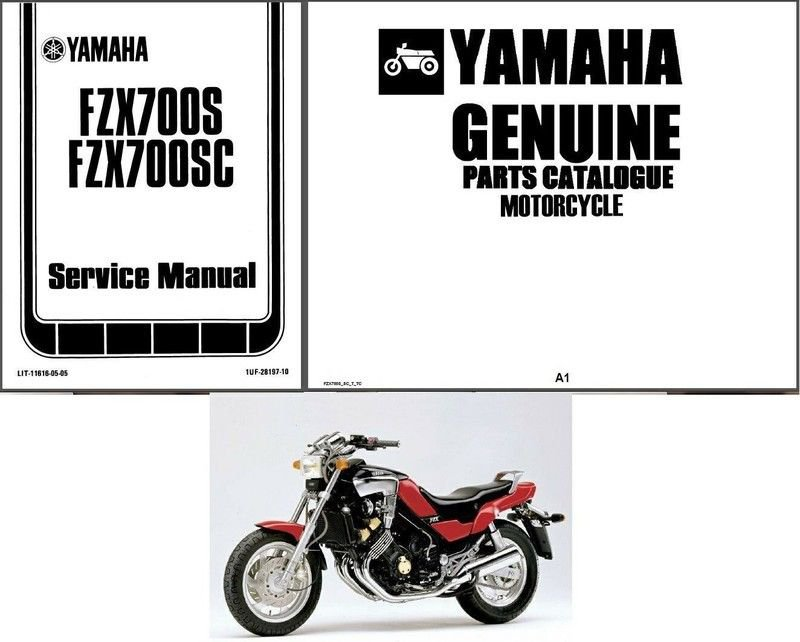 86-87 Yamaha FZX700 Fazer Service Repair & Parts Manual CD .. FZX 700