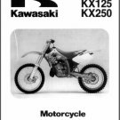 94-98 Kawasaki KX125 KX250 Service Repair Workshop Manual CD - KX 250 125