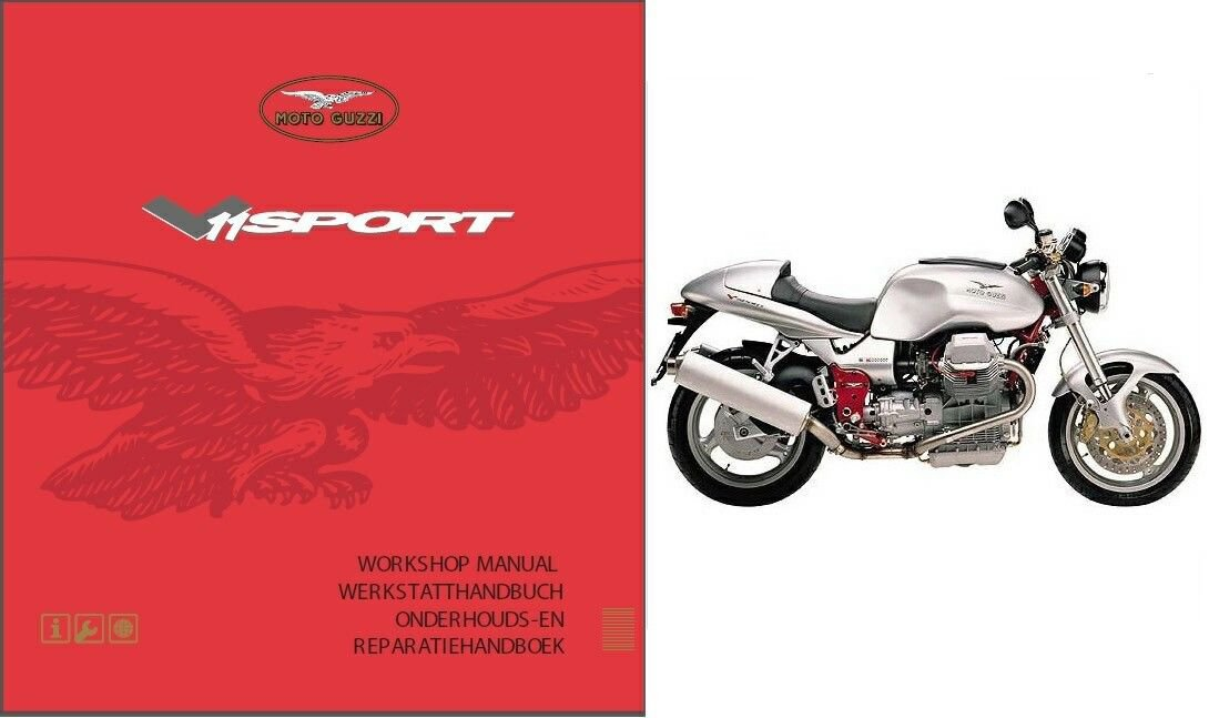 98-05 Moto Guzzi V11 Sport Le Mans Rosso Corsa Ballabio Service Repair Manual CD