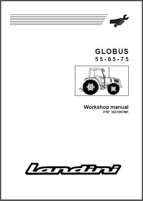 Landini Globus 55 - 65 - 75 Tractor Repair Service Workshop Manual CD