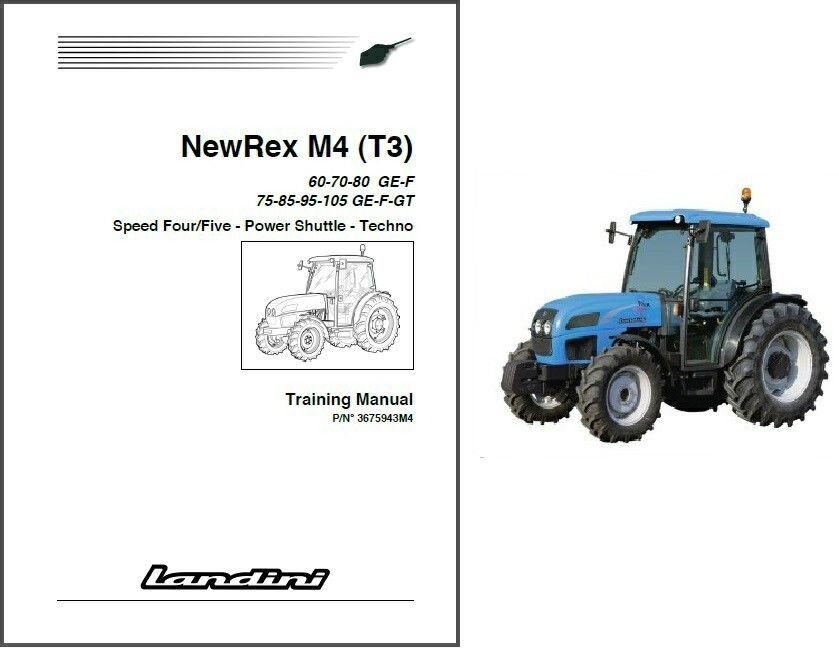 Landini NewRex M4 T3 Tractor Repair Workshop Service Manual CD - New REX