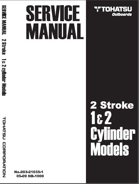 Tohatsu 1-2 Cyl 2-Stroke 2.5-40 Hp Outboard Motor Service Repair Manual CD