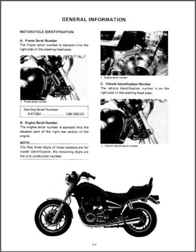 1982 Yamaha Maxim 1100 ( XJ1100 ) Service Manual on a CD
