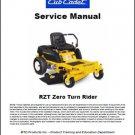 Cub Cadet RZT Zero Turn Rider Lawn Mower Service Manual on a CD