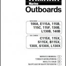 Yamaha 100 115 130 140 HP 2-Stroke Outboard Motors Service Manual on a CD