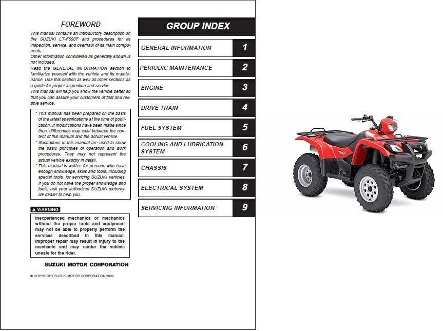 2005 suzuki vinson 500 4x4 manual atv  instant transmission! our quadrunner  ebooks learn more about quadrunner 4x4
