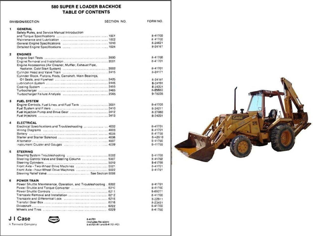 case 580 super e loader backhoe tractor service repair manual cd 580e rh ecrater com case 580 super e service manual download case 580 super l series 2 service manual