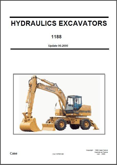Case 1188 Hydraulic Excavator Service Repair Manual CD