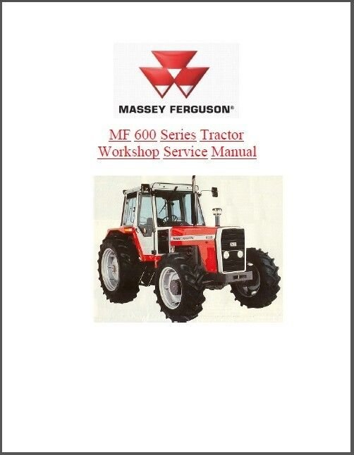 Massey Ferguson MF 675 690 698 Tractor Service Manual CD .. MF675 MF690 MF698