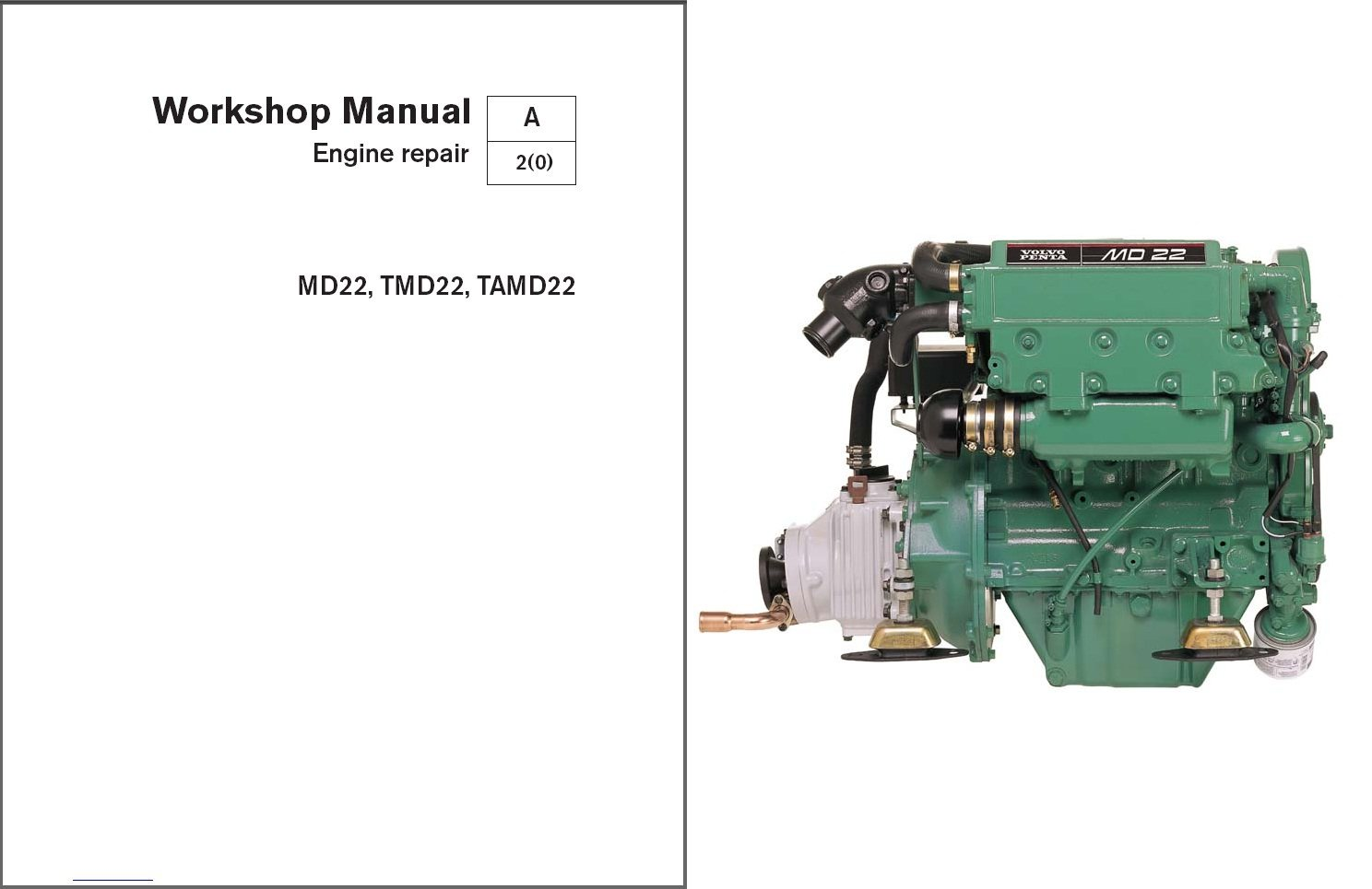 Volvo Penta MD22, TMD22, TAMD22 Marine Engines Service Repair Manual CD