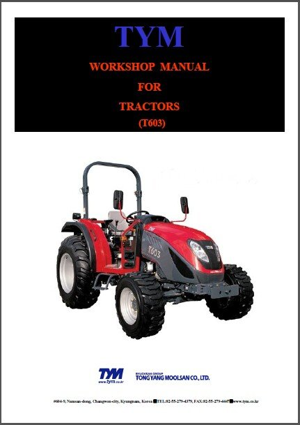 TYM T603 Tractor Service Repair Manual on a CD  - T 603