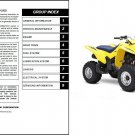 04-09 Suzuki LT-Z250 QuadSport Service Repair Workshop Manual CD