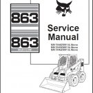 Bobcat 863 / 863 High Flow Skid Steer Loader Service Manual CD
