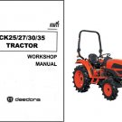 Kioti CK25 CK27 CK30 CK35 Tractor Repair Service Manual CD --- CK 25 27 30