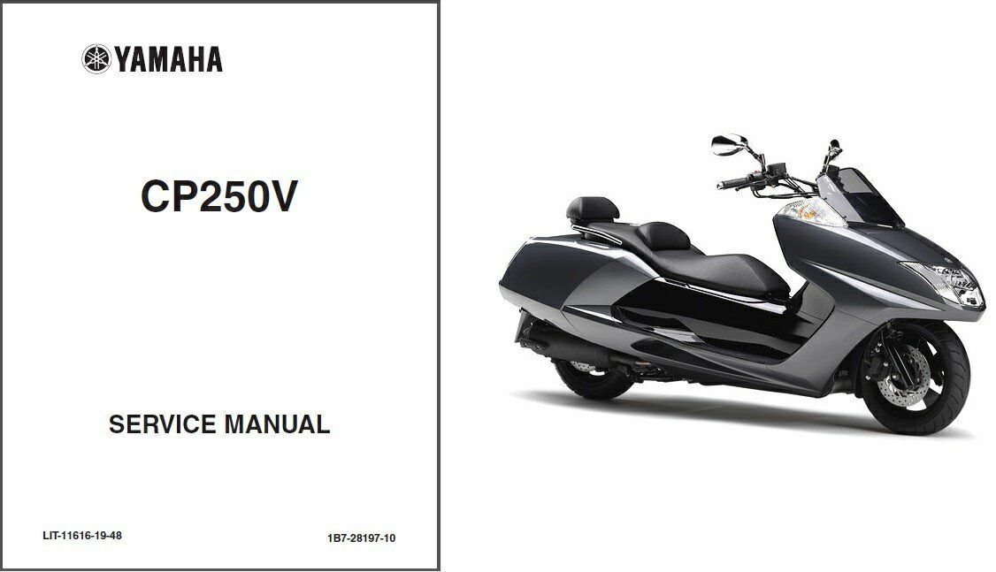 Yamaha CP250 Morphous - Maxam Scooter Service Repair Manual CD - CP 250