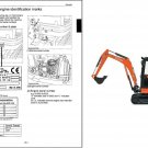 Kubota KX61-3 / KX71-3 Mini Excavator WSM Service Manual on a CD