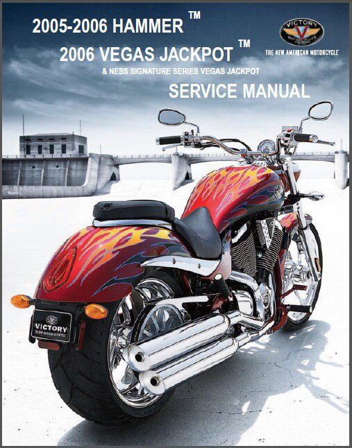 2005 2006 Victory Hammer / Vegas Jackpot Motorcycle Service Manual on a CD