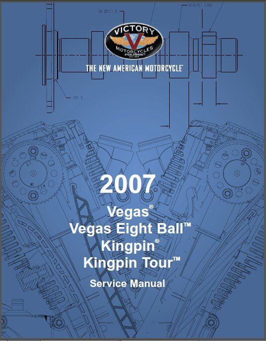 2007 Victory Vegas / Eight Ball / Kingpin Tour Motorcycle Service Manual on a CD