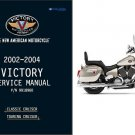 2002-2003-2004 Victory Classic / Touring Cruiser Motorcycle Service Repair Manual CD