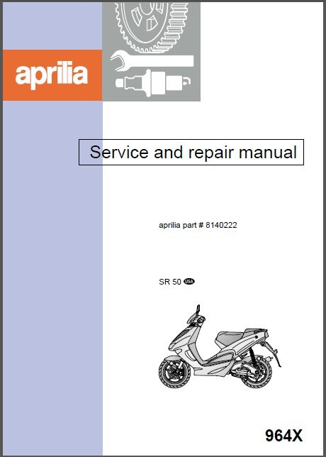 1997-2015 Aprilia SR50 Scooter Service Manual on a CD -- SR 50
