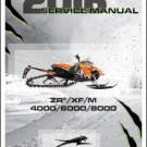 2016 Arctic Cat ZR / XF / M 4000 / 6000 / 8000 Snowmobiles Service Manual CD